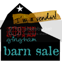 I'm a vendor at the barn sale